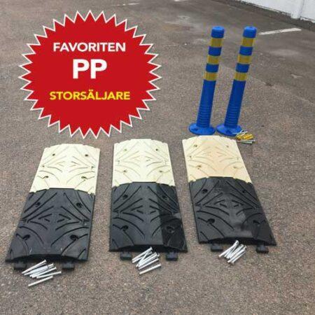 farthinder storsäljaren pp komplett med två stolpar och tre meter farthinder.