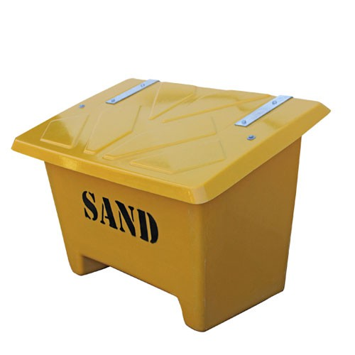 250L gul sandbehållare