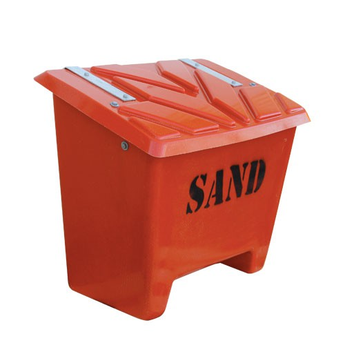 röd sandbehållare