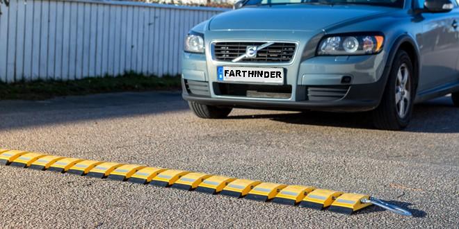 tillfällig fartsänkning i bostadsområde