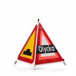 varningstält farthinder olycka