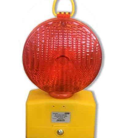 trafikljus med röd lins