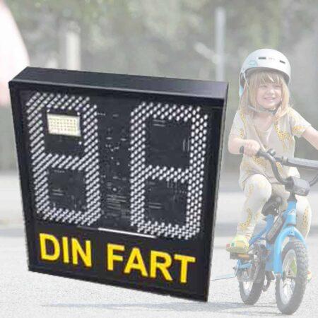 hastighetstavla sänkt hastighet med skylt