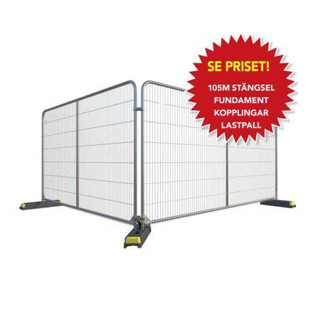 Byggstängsel extrem för ett säkert staket