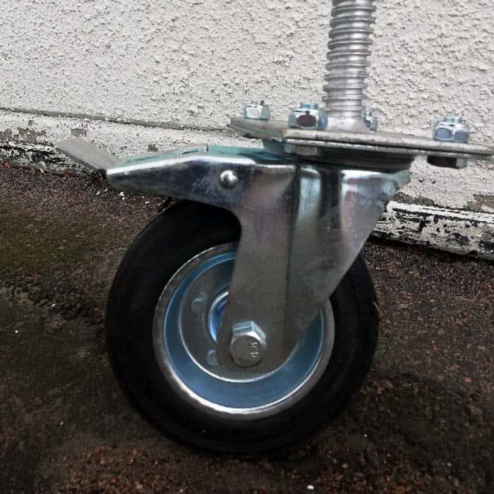 hjulet på stödhjul vägbom