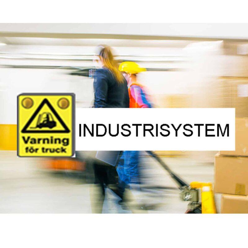 Truckvarningssystem, industrisystem