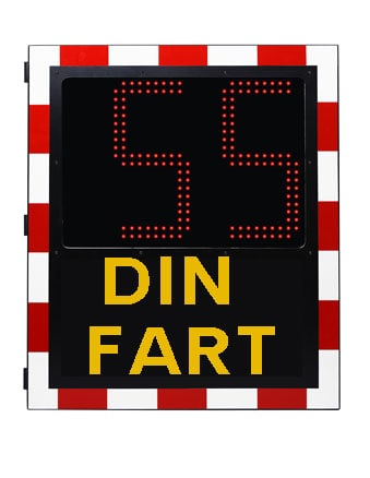 hastighetdisplay din fart