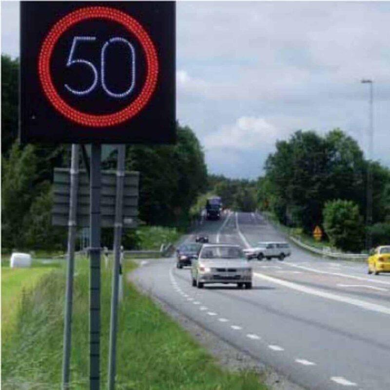 hastighetspåminnare miljöbild