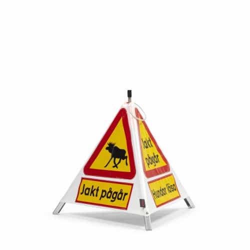 varningstält med olika budskap